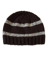 Closet Values Toddler Boys Size 2T-4T Brown Striped Knit Beanie Hat - $8.99