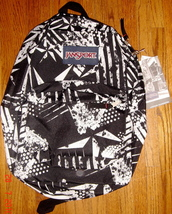 JanSport Superbreak Backpack ~ Blk / Wht Ramble ~ NWT - $32.00