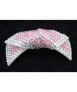 SPARKLE PINK SILVER RHINESTONE butterfly HAIR CLIP/CLAW - $6.50