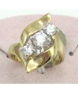 VINTAGE ESTATE 18kt G.F. 3 pecs C.Z  COCKTAIL Ring sz 6-8-9 - $14.99