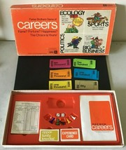 Careers Family Board Game Strategy Parker Brothers 1971 Vintage - $14.84