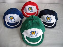 cotton embroidery magic cat design Red blue green boy girl cap hat fit age1-5 - $3.99