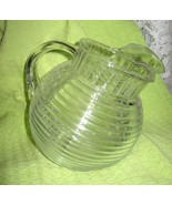 Depression Glass -Clear GlassPitcher-Manhatten/ Horizontal Ribbed-Anchor... - $31.00