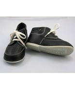 Toddler Boy synthetic leather black booti string Shoes CH 6 - $4.99