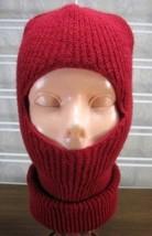 ONE HOLE SKI Mask Cherry  Red SNOW beanie/ BIKER MASK - $3.25