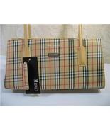 New Misaki Beige leather straps Tote hand bag /purse - $14.59