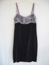 PURPLE SILVER Floral Chiffon VELVET party Dress size  6 - $16.22 CAD