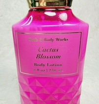 Bath & Body Works CACTUS BLOSSOM Body Lotion Moisturizer Full Size Faceted Pink - $16.69