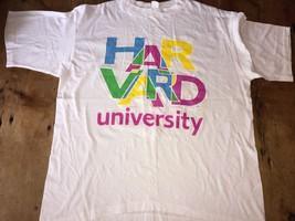 Harvard University Multi-color Blue Yellow XL NewWave 80's Look Shirt Ma... - $17.09