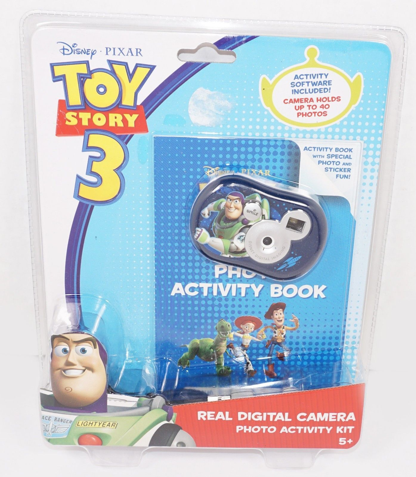 TOY STORY 3 BUZZ LIGHTYEAR - OEM DISNEY REAL DIGITAL CAMERA & ACTIVITY BOOK 2010