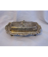 Vintage Silver Plate Butter Dish with Glass Insert - $12.95