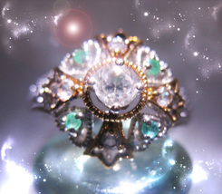 HAUNTED RING THE MOST SPECTACULAR WORLD RARE GOLDEN ROYAL COLLECTION MAGICK - $444.77