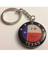 Texas Lone Star + I Love Texas with Texas Flag Colorful Round Metal Key ... - $3.99