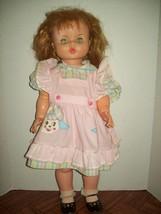 "Vintage 27"" Horsman Ruthie Thirsty Walker Doll Open Close Eye Auburn Hair 1974  - $197.77"