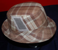 Dorfman Pacific Authentic Handmade Headwear Size M Warm Plaid Fedora Trilby image 7