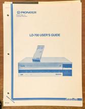 Pioneer LD-700 LD Laserdisc  User Guide Owners Manual *Original* - $18.46