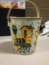 J. Chein Company Co Chein Train Tin Litho Metal Kids Sand Pail Bucket (d... - $46.74
