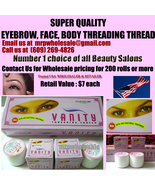 50 X Eyebrow threading thread VANITY USA seller FREE SHIP $7 retail  eac... - $63.99