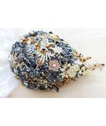 """8"""" black gold brooch bouquet wedding bridal teardrop bouquet Jewelry dro... - $250.00"""