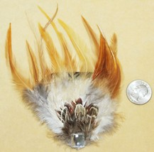 Tan Burlesque Feather Tribal Belly Dance Dancing Hippie Gothic Hair CLIP... - €4,38 EUR