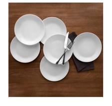 "Frost White 10.25"" Dinner Plate, Set of 6 - $30.57"