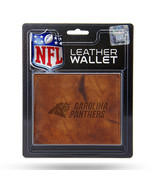 NFL Carolina Panthers Leather Bi-Fold Wallet - Tan Leather Billfold Wall... - $21.77
