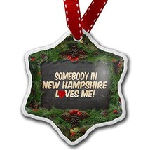 NEONBLOND Christmas Ornament Somebody in New Hampshire Loves me, United ... - $25.62