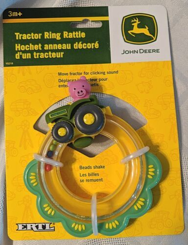 John Deere TBEKY5218 Moving Tractor With A Pig Inside Ring Rattle