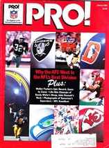 Pro Official Magazine Of National Football League, January 1985, AFC West - $3.25
