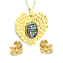 Multicolor Cubic Zircon Stainless Steel Jewelry sets Gifts For Women Wedding Wom - $19.70