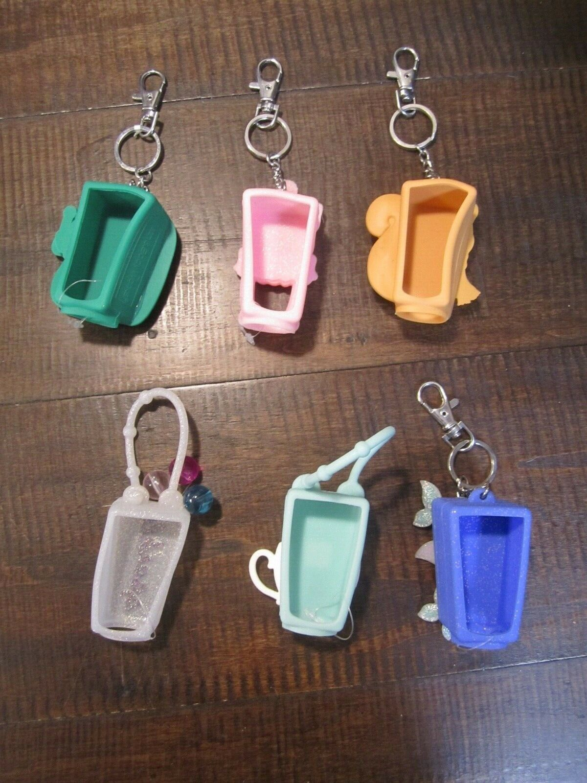 Bath and Body works lot of holders for hand sanitizer some light up fox turtle 6