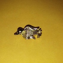 Vintage Nemo stamped/signed penguin?bird tack/stick/hat pin shiny gold tone - $10.99