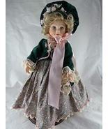 """Robin Woods Vinyl Doll 1989 14"""" Blonde with Velvet Dress Signed - $83.04"""