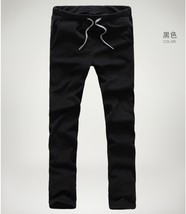 Fashion Men's Black Cotton Pant High Quality Casual Sport Long Pants For... - $38.76