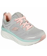 Skechers Walker Gray Coral Shoes Women Sport Comfort Memory Foam Cushion... - $49.99