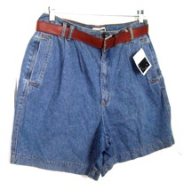 Sz 16 - NWT Jennifer Moore Blue Jean Denim Pleated Shorts - $25.64