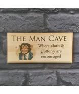 The Man Cave Plaque / Sign / Gift - Posh Monkey Shed Workshop Bedroom Me... - $12.46