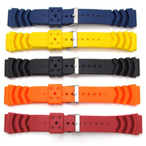 Five Mens Watch Strap Bands For SEIKO MONSTER Rubber Divers Diving 20mm-... - $36.91