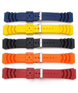 Five Mens Watch Strap Bands For SEIKO MONSTER Rubber Divers Diving 20mm-... - $38.39