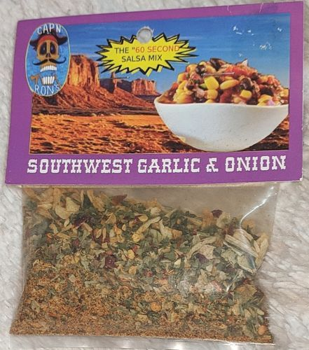 Dip Addiction CAPN RONS Sixty Second Southwest Garlic And Onion Salsa Mix