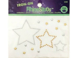 Dritz Iron-On RhineStuds, Gold and Silver #4480