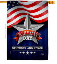 Memorial Day Star - Impressions Decorative House Flag H192546-BO - £26.59 GBP