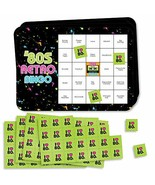 Big Dot of Happiness 80's Retro - Bar Bingo Cards and Markers - Totally ... - $15.51