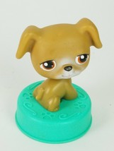 Littlest Pet Shop LPS Brown Puppy Dog With Brown Eyes - $7.27