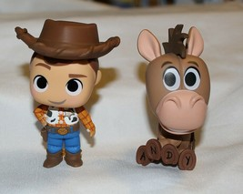 New Funko Mystery Minis Toy Story 4 Woody Bullseye 2 Pack Cowboy Horse D... - $16.82