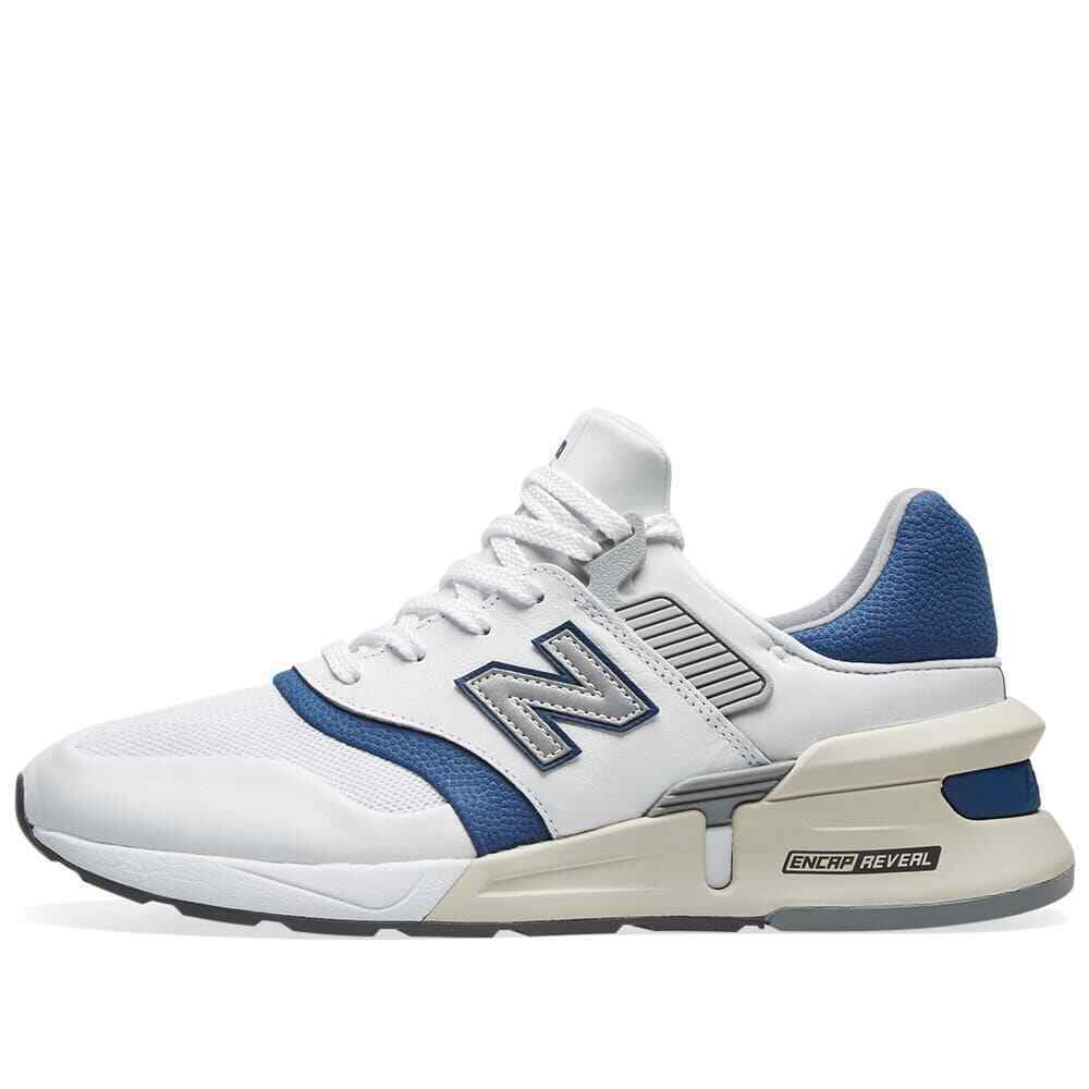 New Balance 997 Mens Trainers White/Blue Sneakers image 2