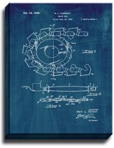 Chain Saw Patent Print Midnight Blue on Canvas - $39.95+