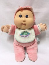 Vtg 1988 Cabbage Patch Babyland Kids Hasbro Doll Rattle Orange Hair Blue... - $12.86