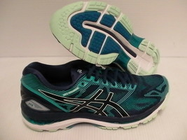 Asics women's gel nimbus 19 insigia blue glacer sea running shoes size 8... - $118.75