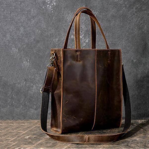 On Sale, Handmade Tote Bag, Horse Leather Shoulder Bag, Leather Shopping Bag